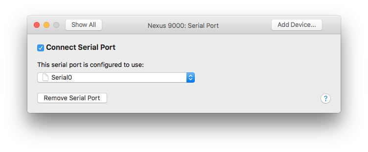Deploying Nexus 9000v Using VMware Fusion | COvirt Networking